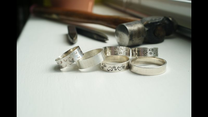 Selection of finished rings