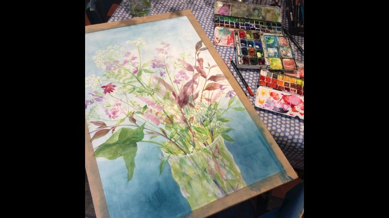 Summer flowers in process