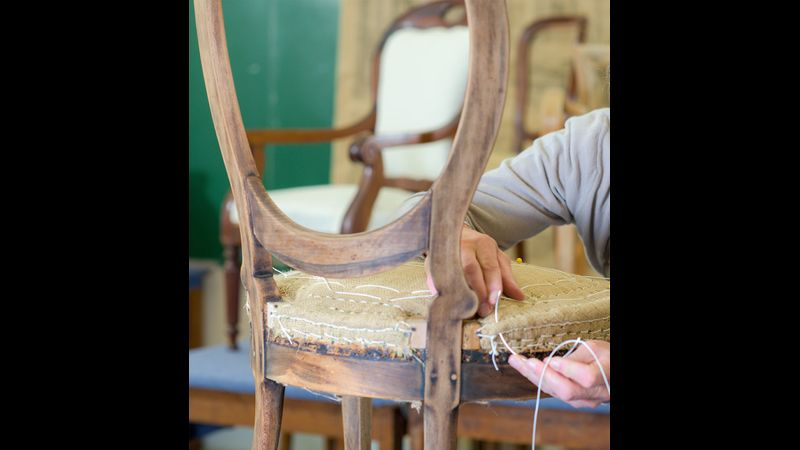 Upholstery stitched edge