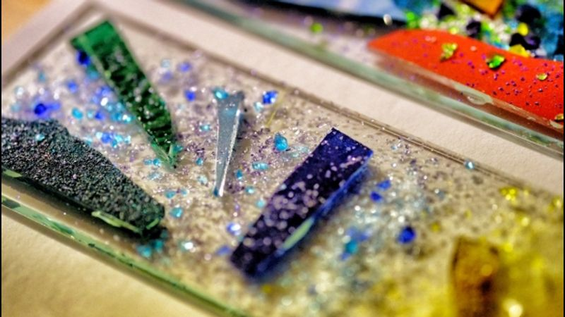 Stunning glass on a fused glass course in Halifax, West Yorkshire
