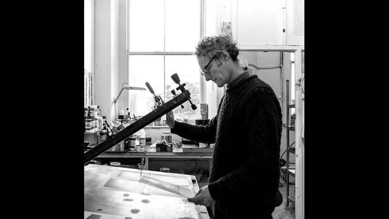 Simon Tozer screen print workshop