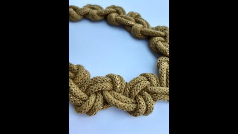 Macrame Knot Two Colour Necklace