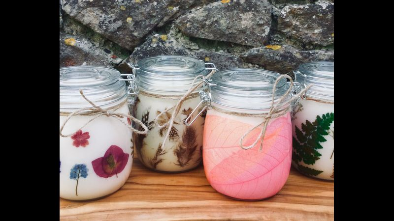 Decorate and hand pour your own candle