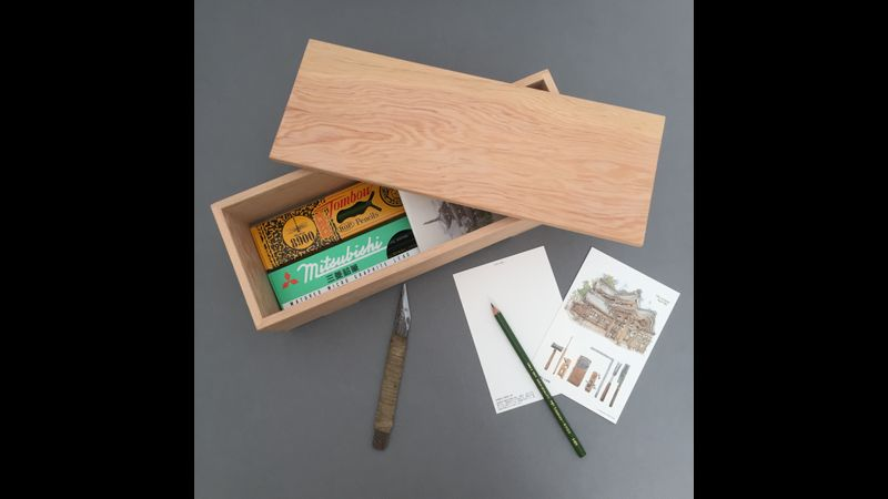Finished lap joint box being used as a writing box