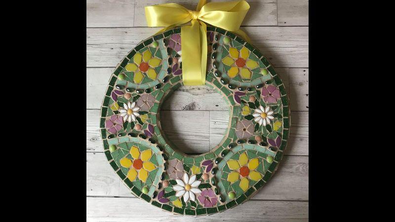 Mosaic Spring Wreath