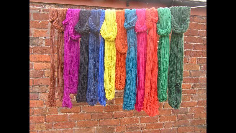 Colourful yarns