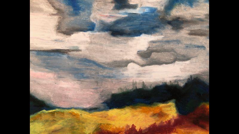 Oil Pastel sky