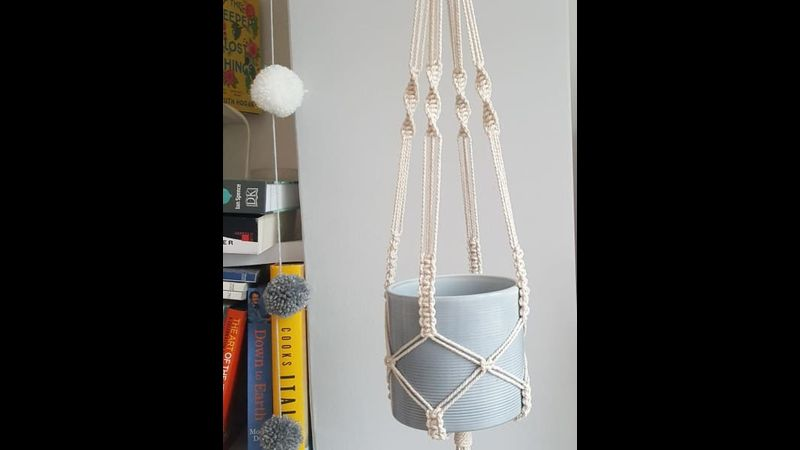 Macramé plant holder with Craft My Day