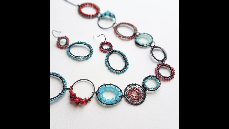 Learn wire stitching techniques to create your own unique necklace in Staffordshire