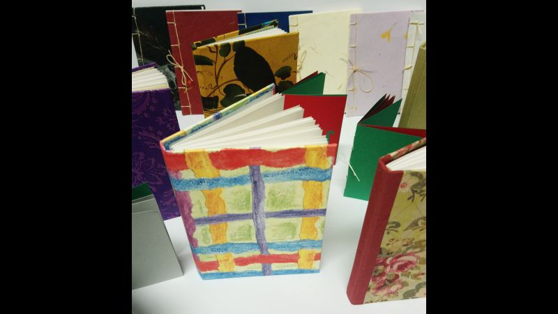 Variety of bookbinding techniques