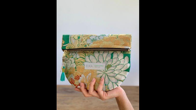 Vintage Kimono Clutch Bag