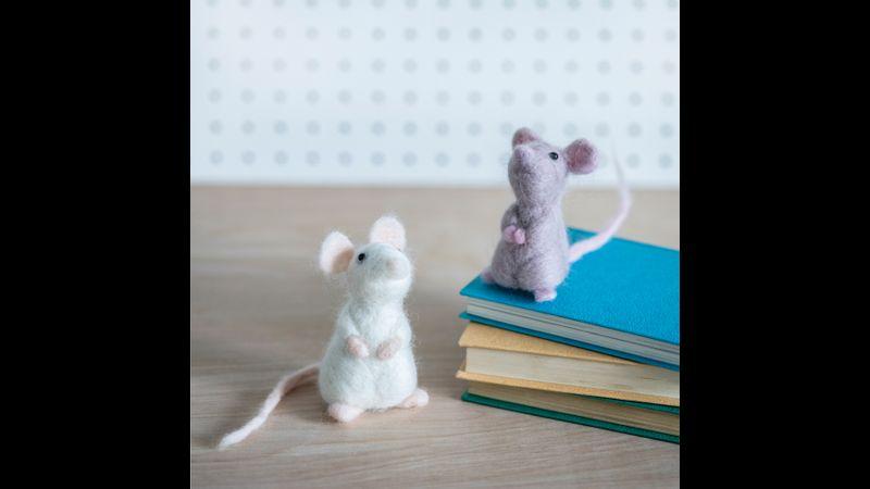 Needle Felted Mice Kit - Bergin & Bath