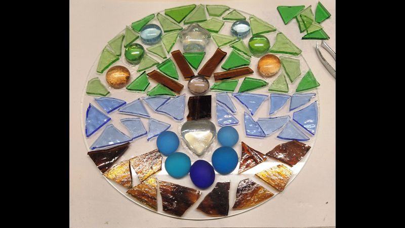 Tree of Life Stained Glass mosaic Kit
