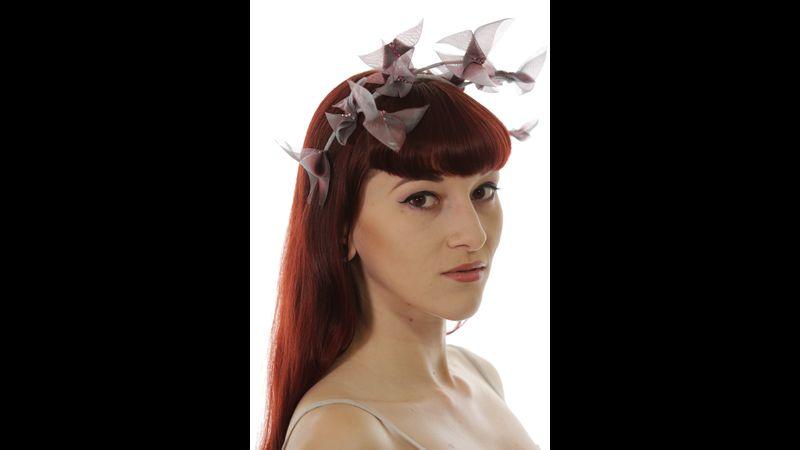 Origami butterfly fascinator