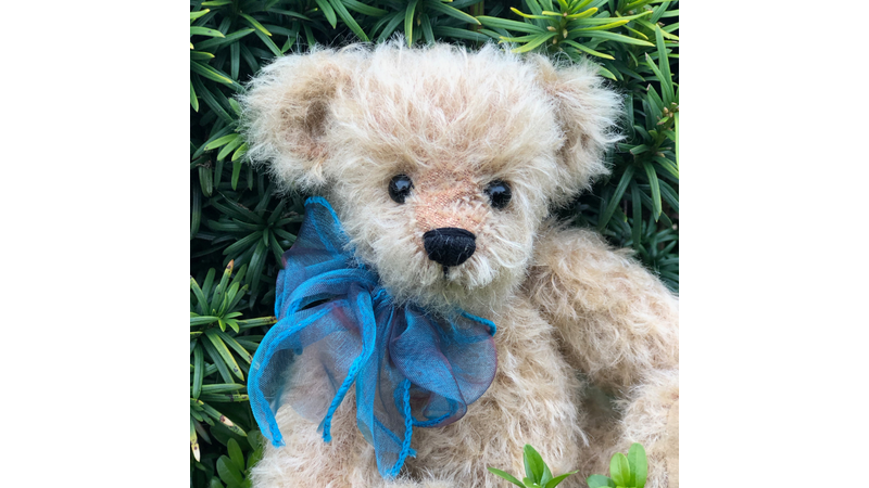 Traditional handmade cotter pin jointed dense mohair teddy bear