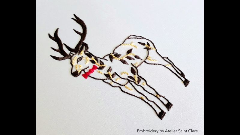 Mr Rudolph: Hand embroidery