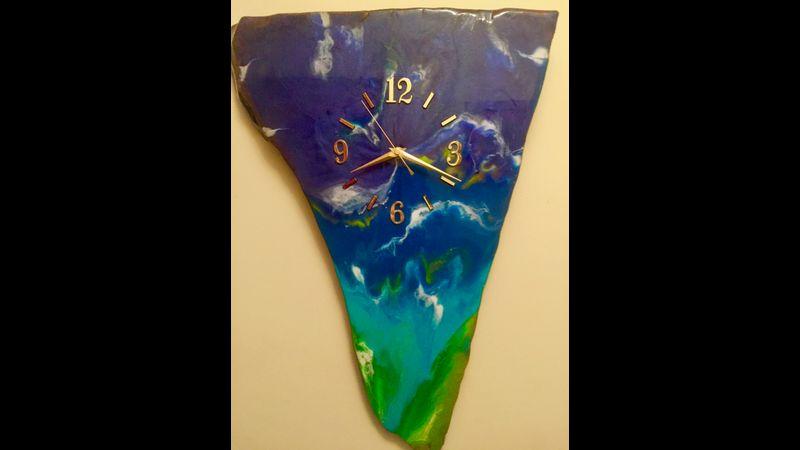 Ocean Art wall clock