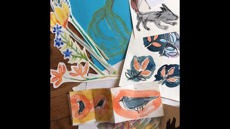 explore a range of ideas and mark making approaches