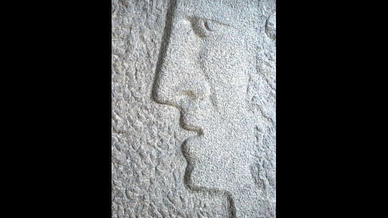 Relief Stone Carving with Pip Hall at Greystoke Craft Garden & Barns, nr Ullswater,the Lake District