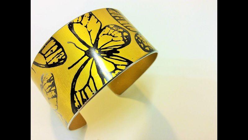 Butterfly cuff by Jenna McDonald Jewellery.