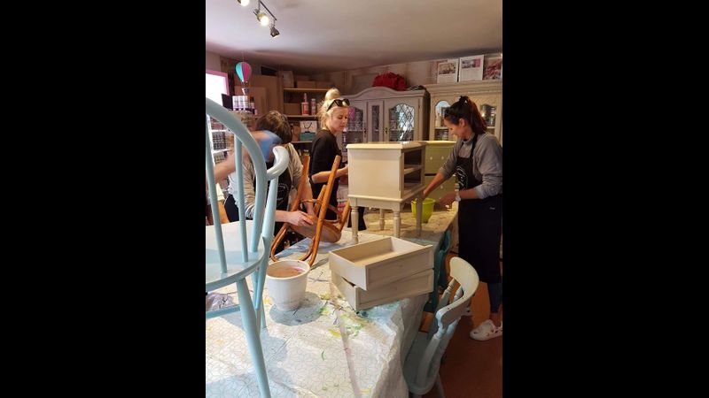 Furniture Painting Workshop at From Loft to Loved in Sedgefield