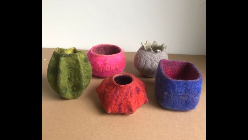 selection of shaped pots