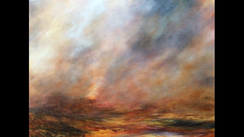 Blowing Over in Acrylic 36 inch x 48 inch