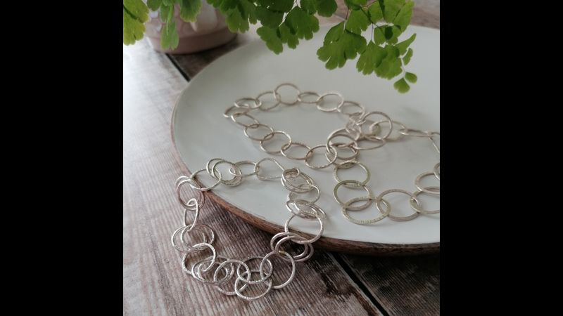Silver Chains Bracelet Workshop in Hampshire