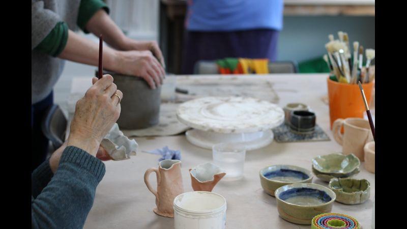 Pottery Class Dorset -  Hand-Building & Glazing.