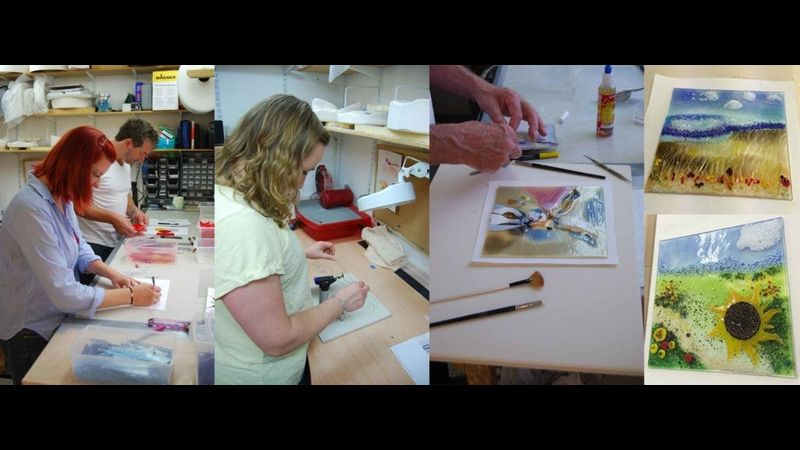 Glass Fusing courses with Laura Hart