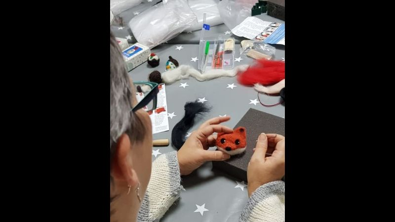 Needle felting workshop with Craft My Day
