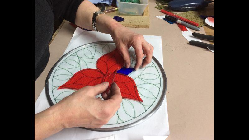 Glass Appliqué Mandala Mosaics