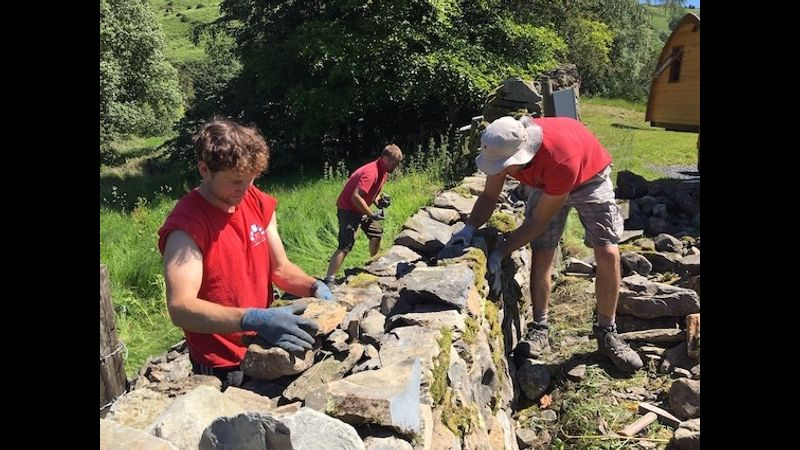 Dry Stone Walling at Cowshed Creative on our Lakeland Farm near Windermere and Kendal
