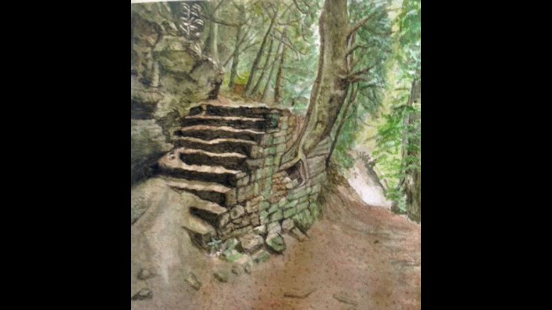 Woodland Steps by Kathleen