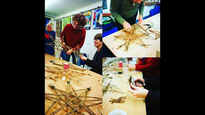 Mini Christmas weaving at Creative with Nature Todmorden West Yorkshire