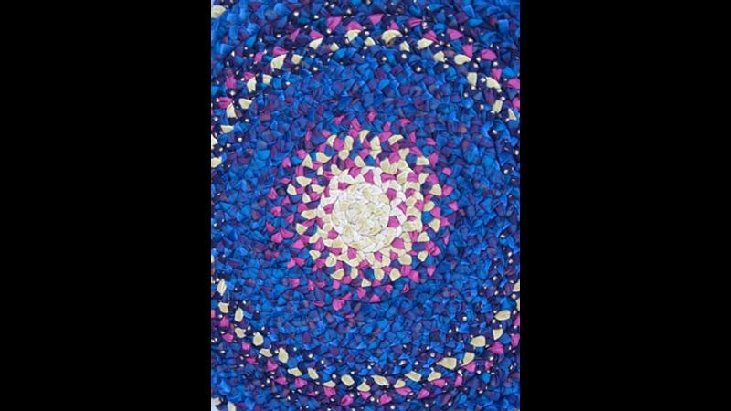 Plaited rag rug