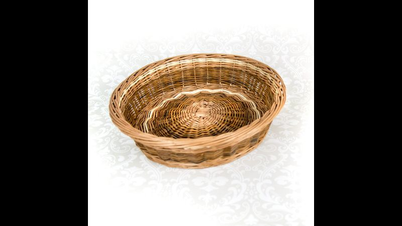 Large willow bowl with woven base