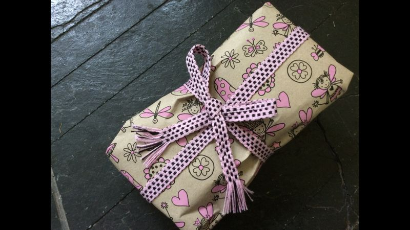Inkle woven ribbon for a special present