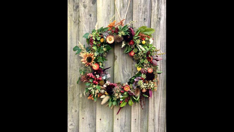 Eco wreath on moss