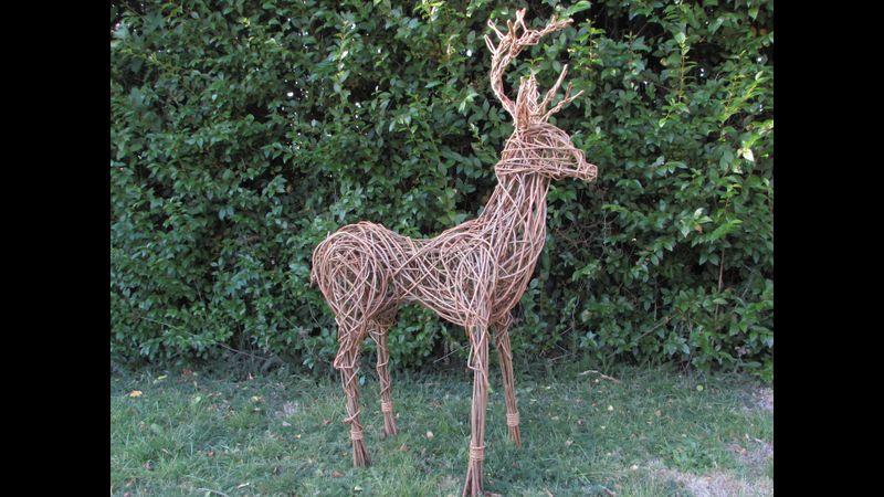 Willow Deer Sculpture Day, Coates English Willow, Somerset