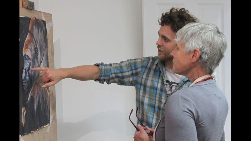 Tom Shepherd teaching at The Courtyard Art Studio