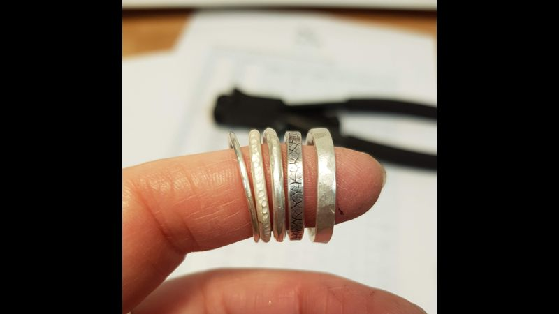 Sample of rings that can be made on this taster session