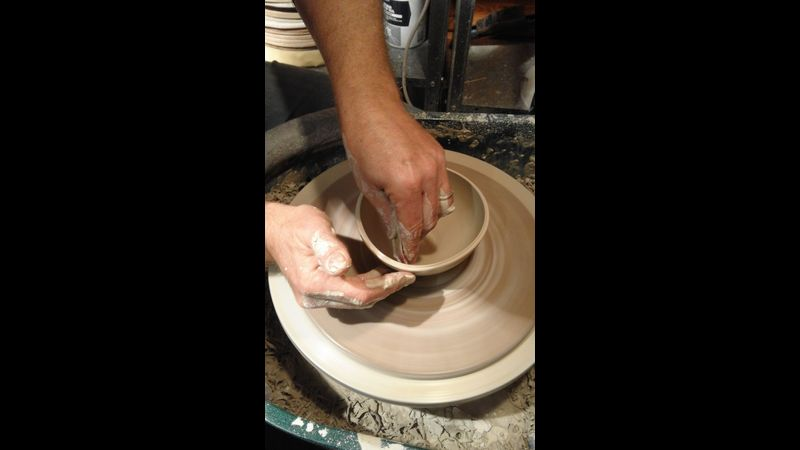 Throwing a small bowl