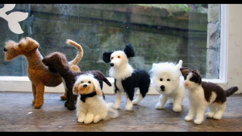 Felted dogs and cat class