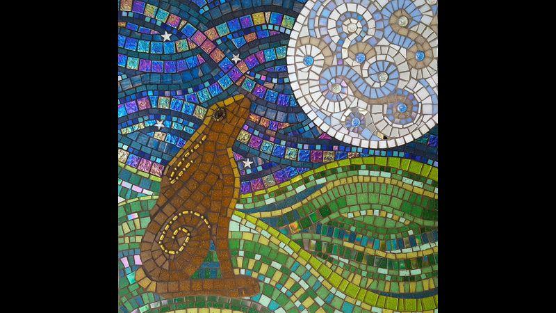 Gazing Hare by Adela 60cm x 60cm