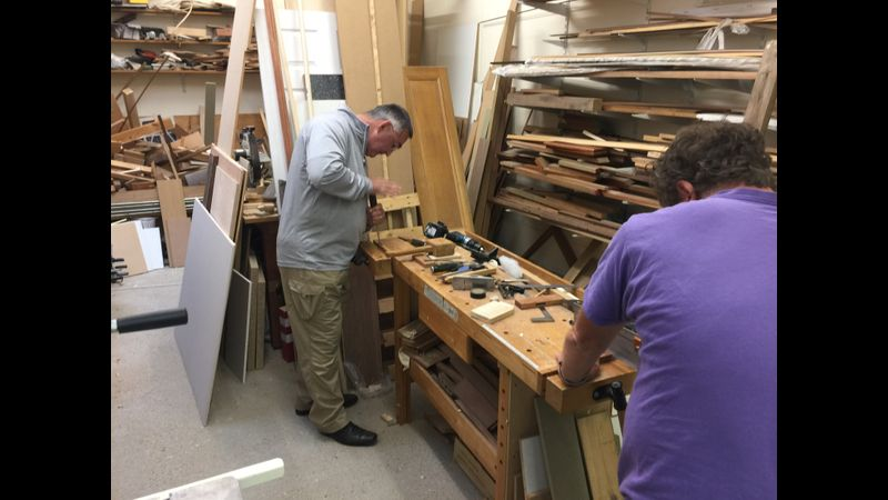 Mortice and tenon joints course, West Byfleet, Surrey, Woodwork