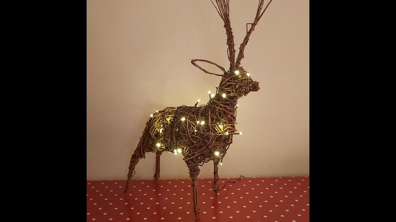 Christmas willow reindeer course - Zantium Studios