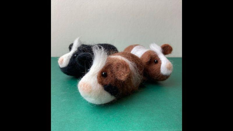 Needle Felted Guinea Pigs - Bergin & Bath
