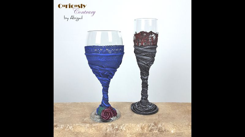 Fabric Sculpted Goblets by Curiously Contrary