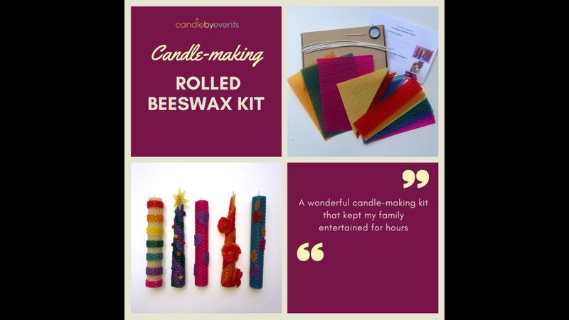 Rolled beeswax candle making kit